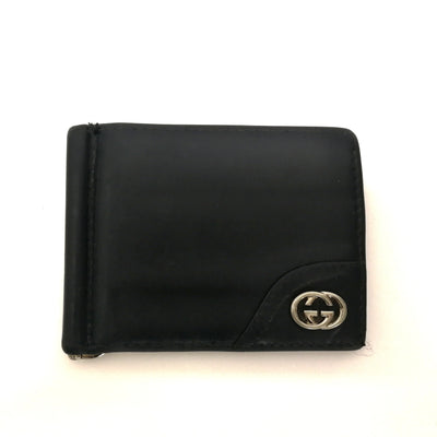 Gucci two-fold leather money clip
