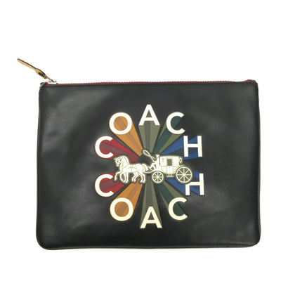 Coach large pouch in colourful Coach motif