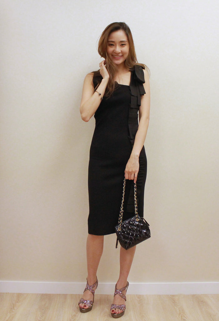 Red Valentino black knit dress