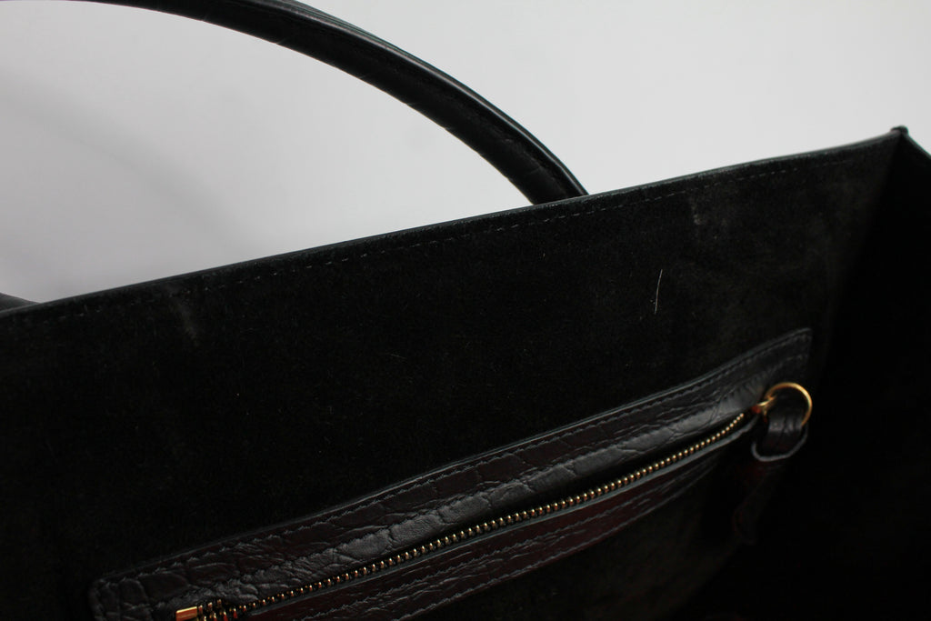 Celine luggage leather Handbag (BLACK)