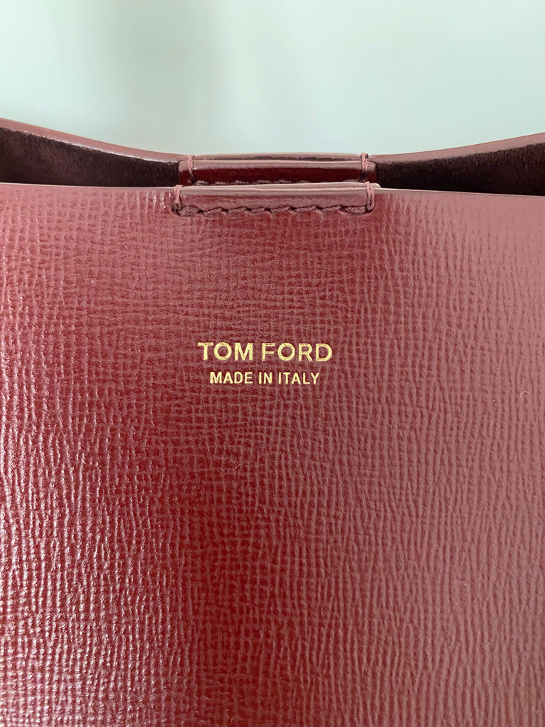 Tom Ford Saffiano leather T-Tote Bag