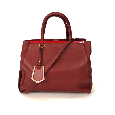 Fendi 2 Jours Leather Handbag