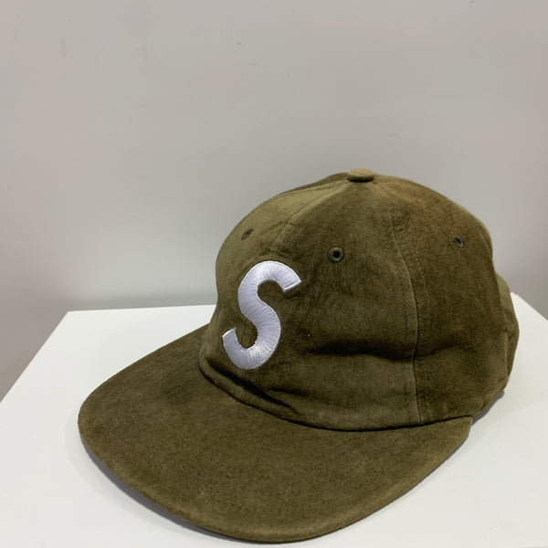 supreme S logo 6 panel cap