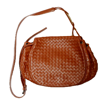 Bottega Veneta drawstring flap messenger bag