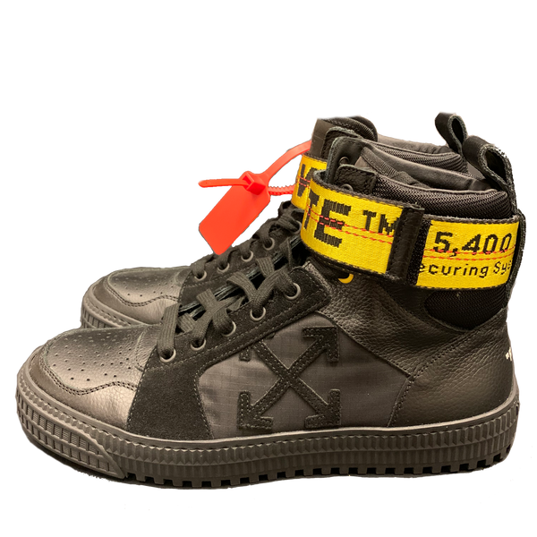 Off White Industrial High Top Leather Sneakers