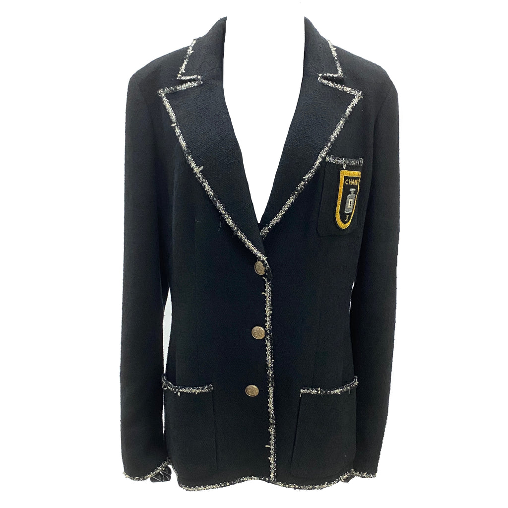 Chanel vintage perfume bottle embellished blazer