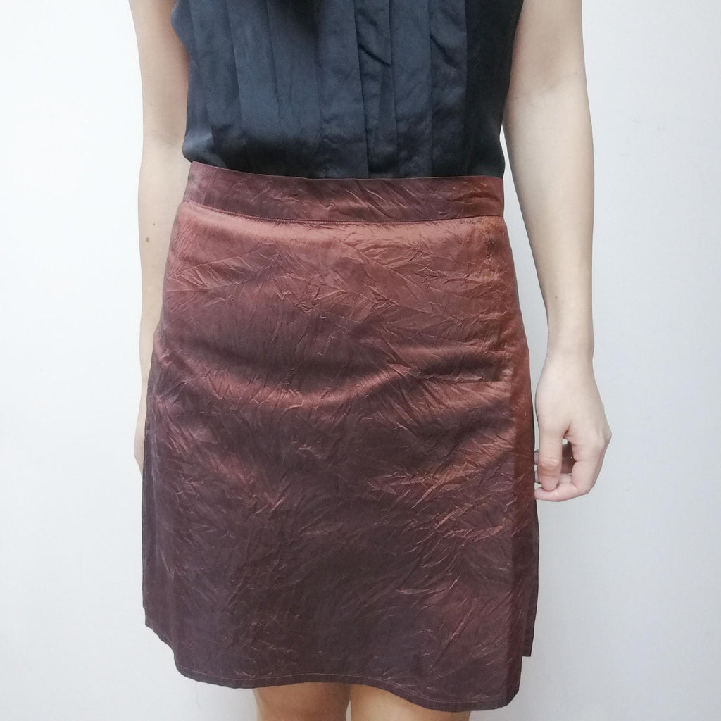 Agnes b metallic colour skirt