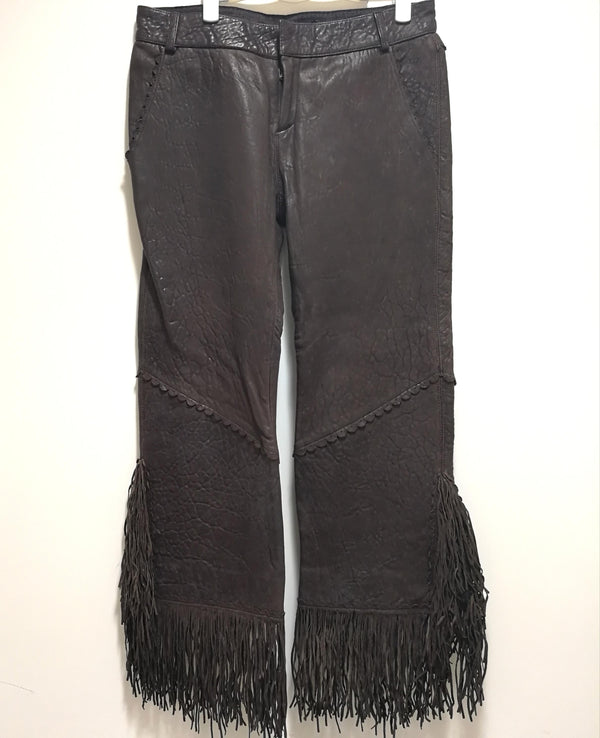 Jean Paul Gaultier leather pants with tassel