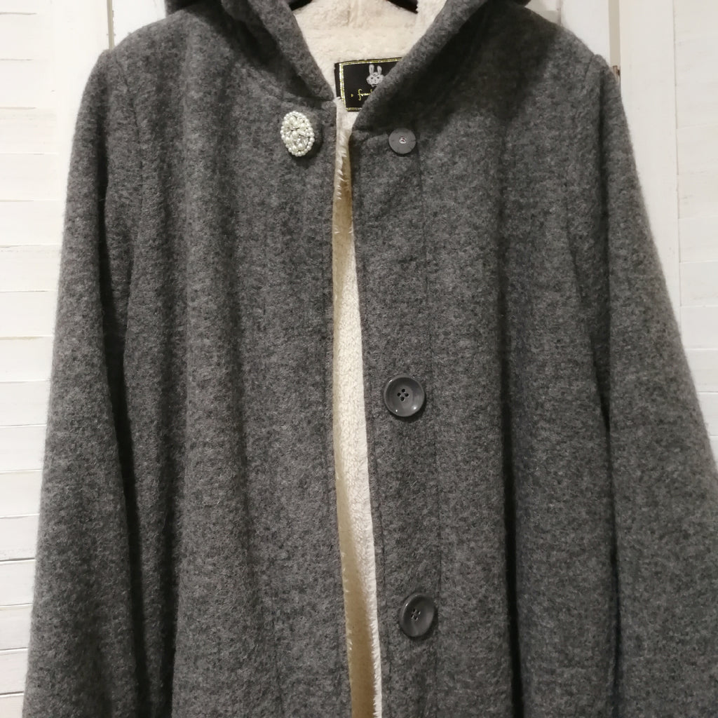 Franche Lippee wool hooded coat
