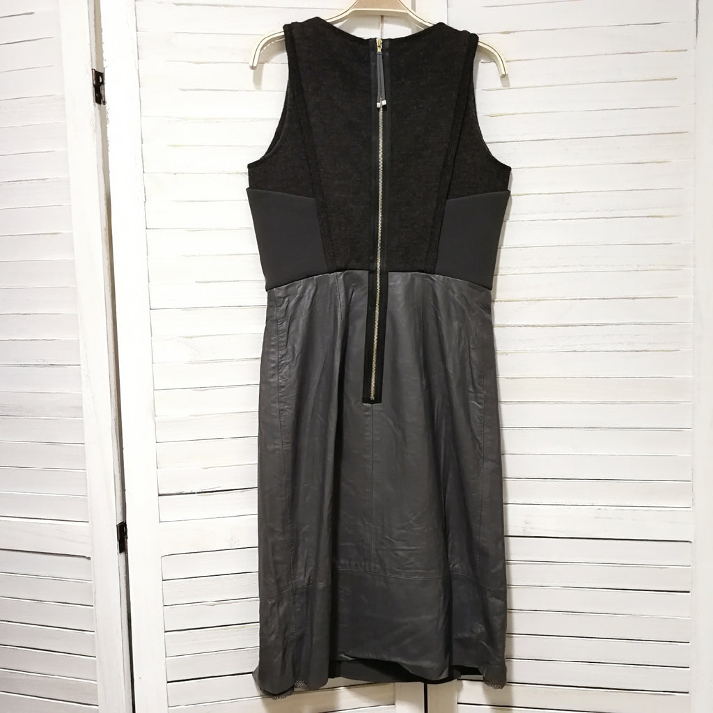 Sportmax leather look sleeveless dress