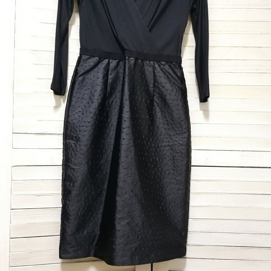 Max Mara deep v two-tone dress