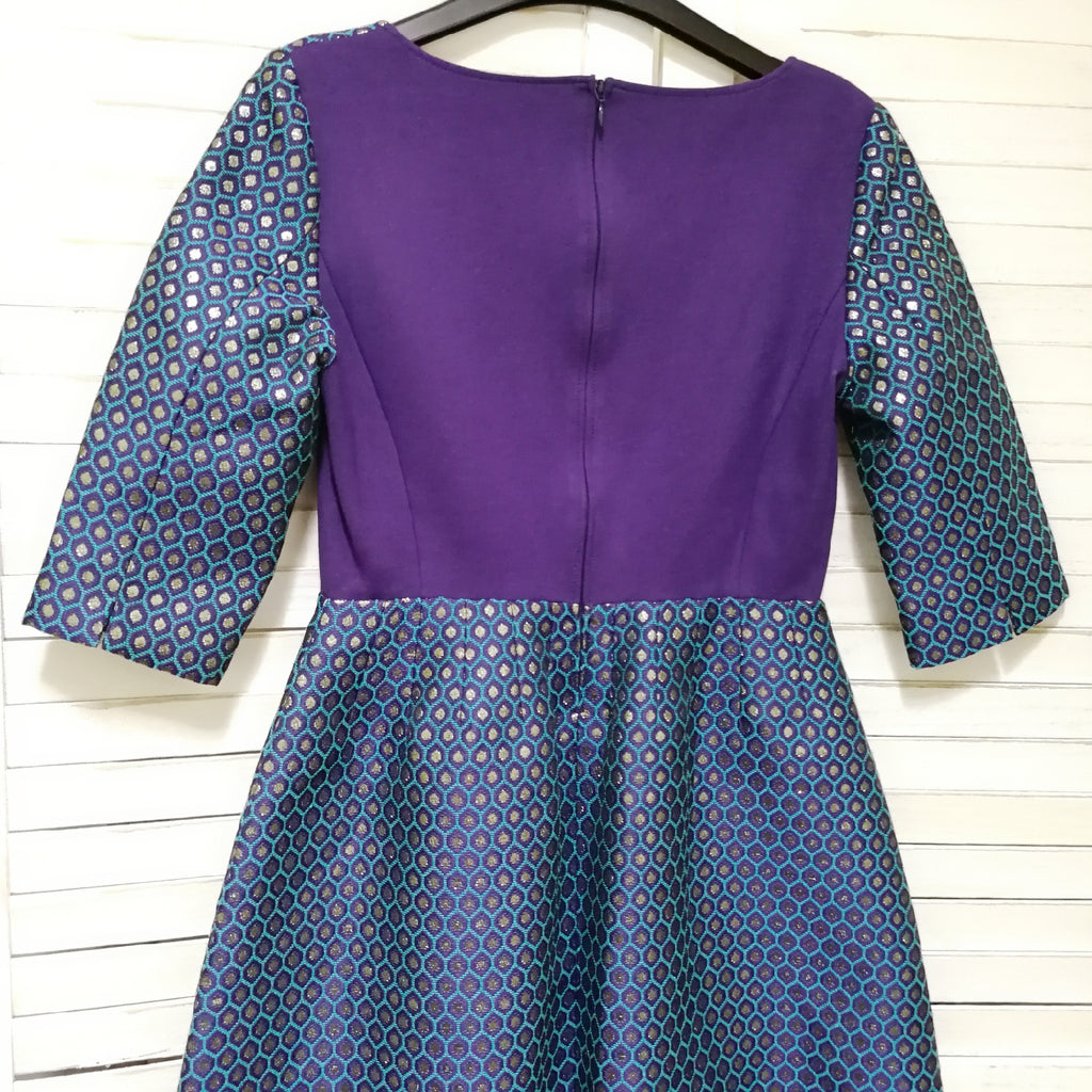 Max & Co. peacock pattern jacquard dress