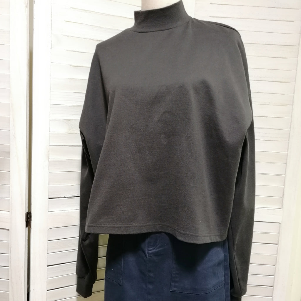 Fray I.D. draped shoulder sweatshirt