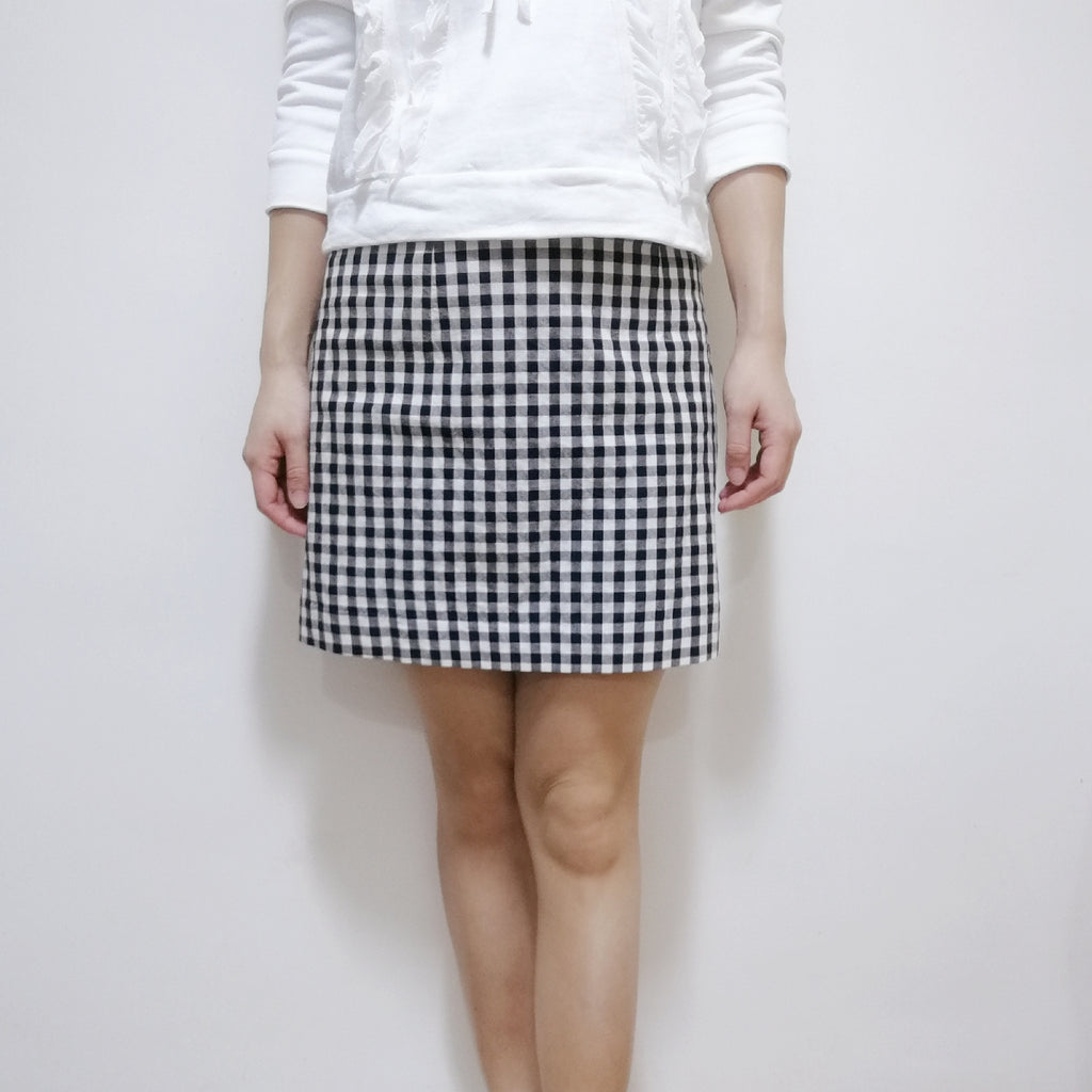 Snidel checked cotton skirt