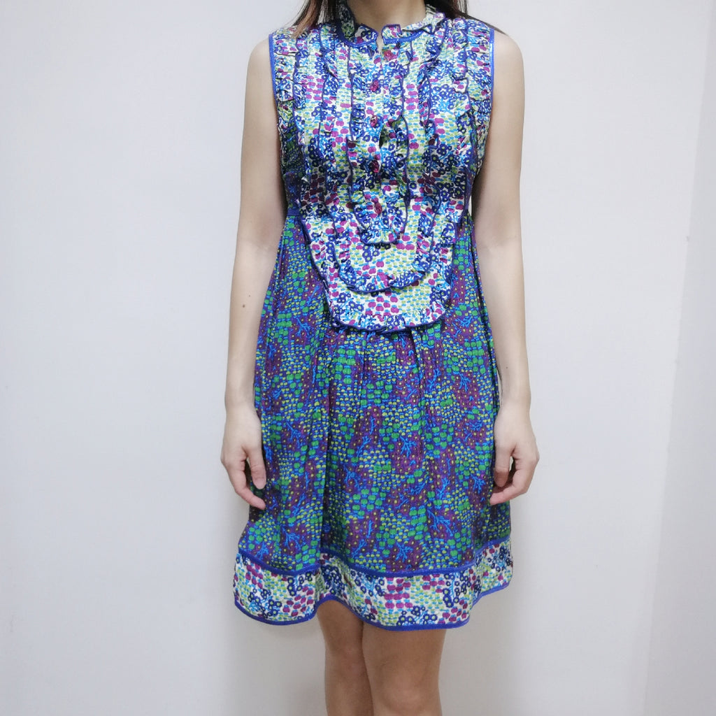 Anna Sui floral dress with sheer back