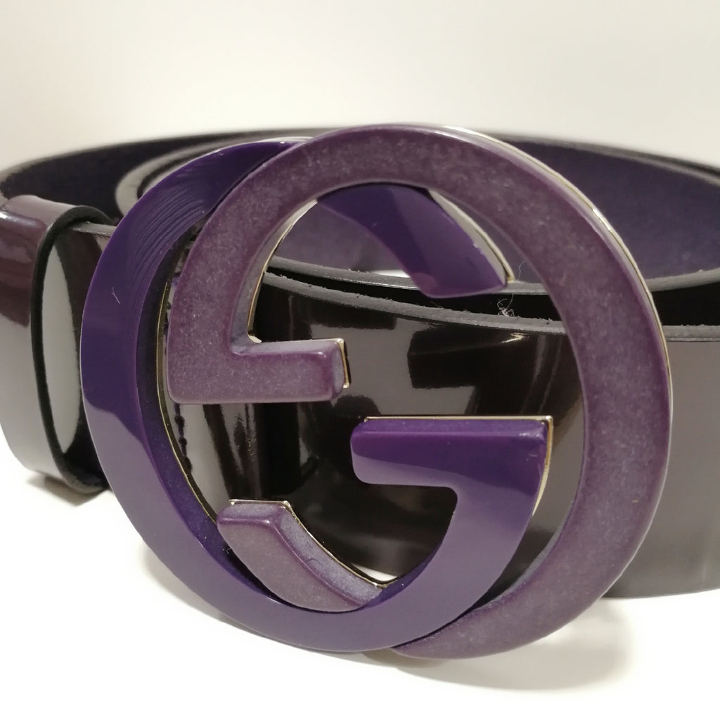 Gucci patent leather belt