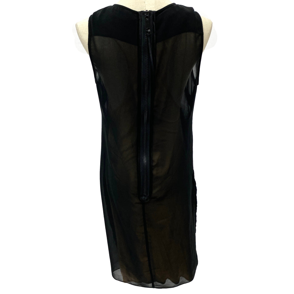 Diesel black sheer dress with cotton underdress