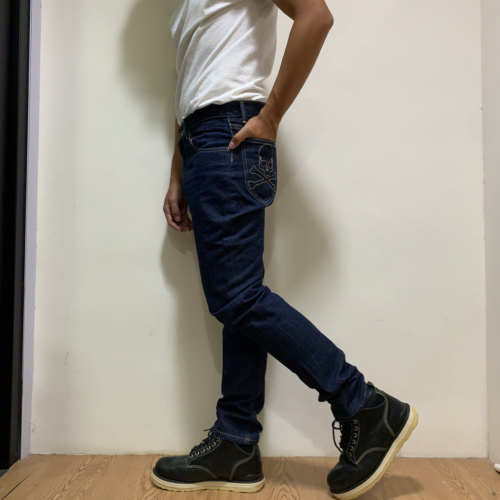 Mastermind Japan MMJ x Lee Unwashed Jeans
