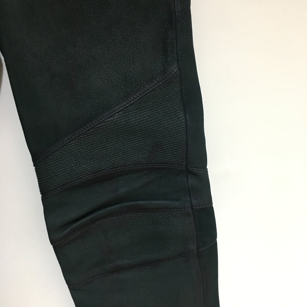 Balmain Biker Jeans (Green Leather)