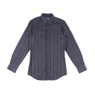 Dolce & Gabbana Shirt (DARK GREY WITH BLUE STRIPE PATTERN)