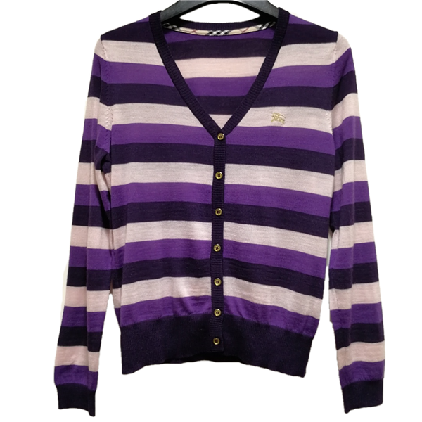 Burberry striped cardigan