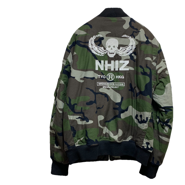 Neighborhood x Izzue Bomber Camo Jacket
