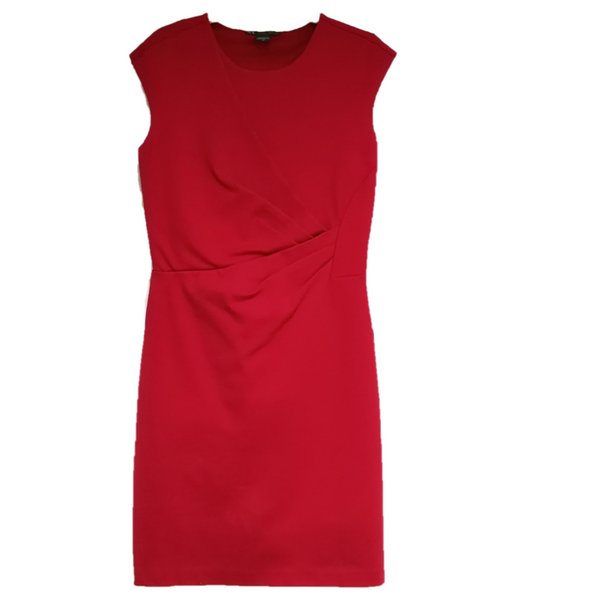Armani Exchange plain colour shift dress