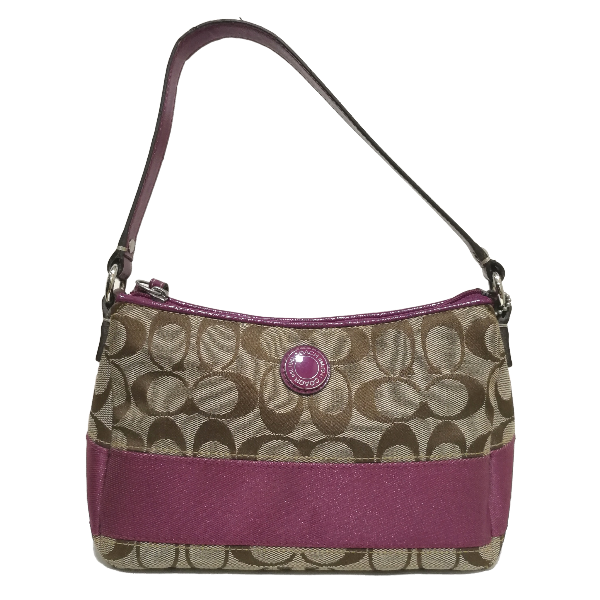 Coach signature jacquard handle bag