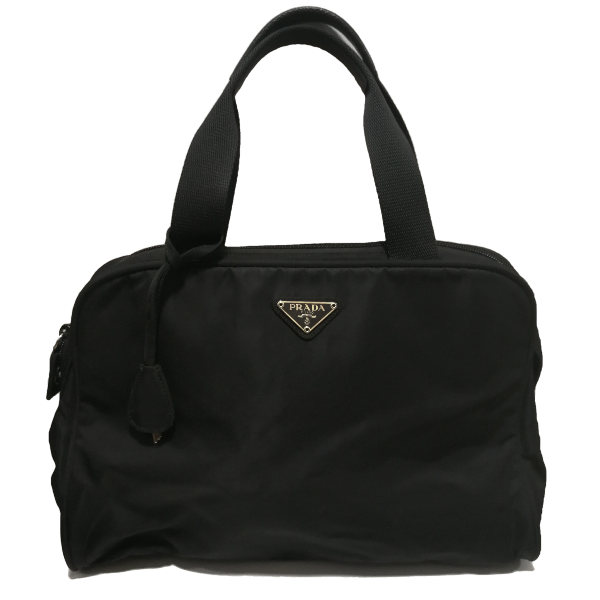 Prada small nylon tote with key and lock