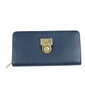 Michael Kors blue leather long wallet