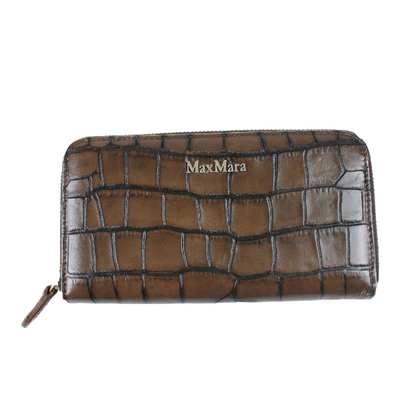 Max Mara crocs embossed long wallet