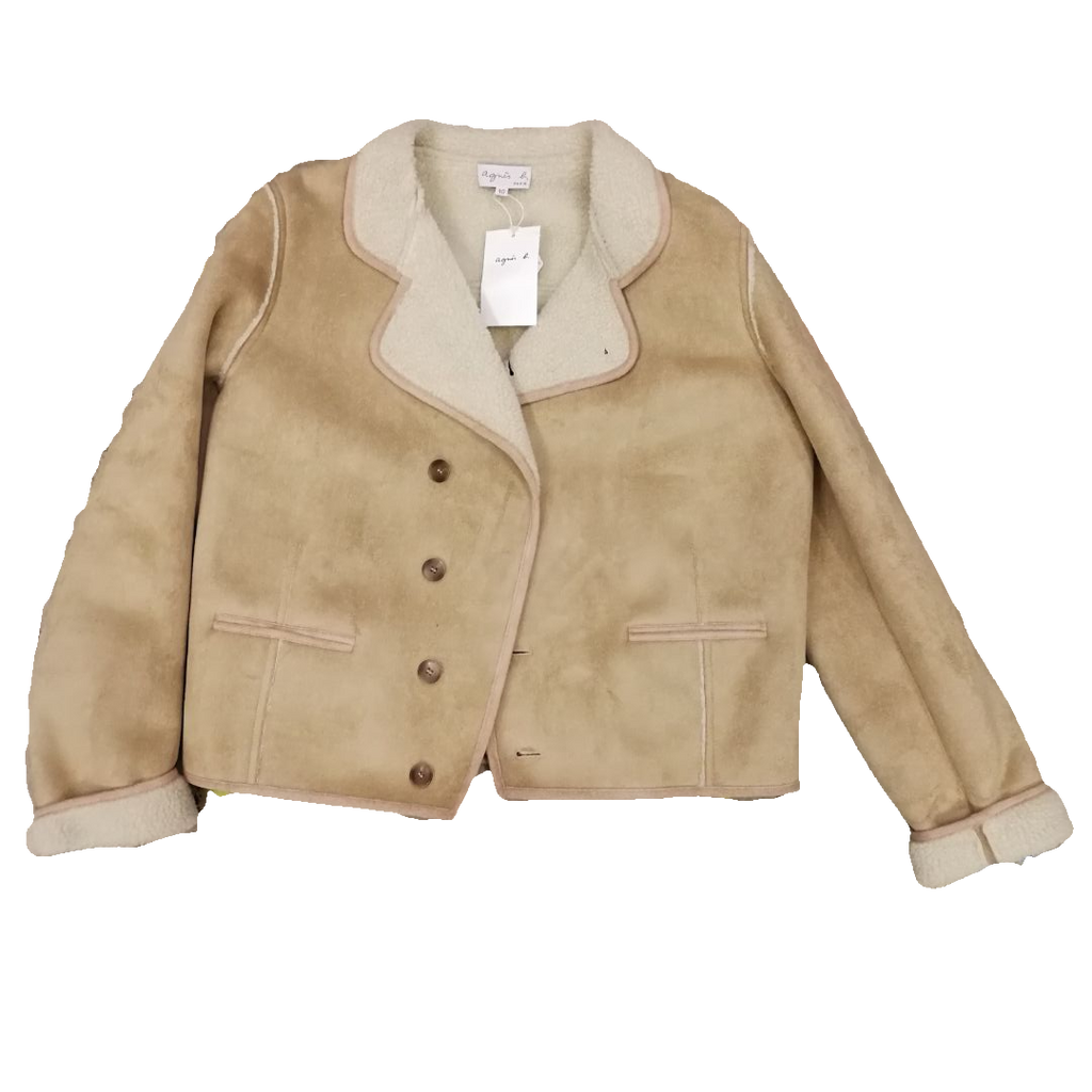 Agnes b shearling jacket