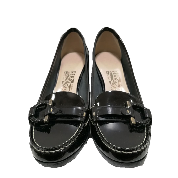 Salvatore Ferragamo heeled loafer shoes