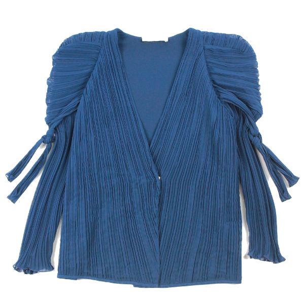 Chloe puff sleeve pleated jacket