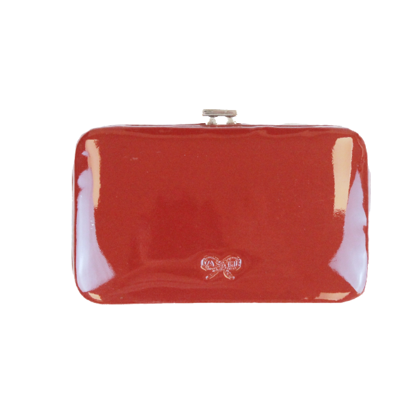 Anya Hindmarch patent leather hard case card holder
