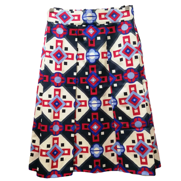 Max & Co. geometric pattern midi skirt