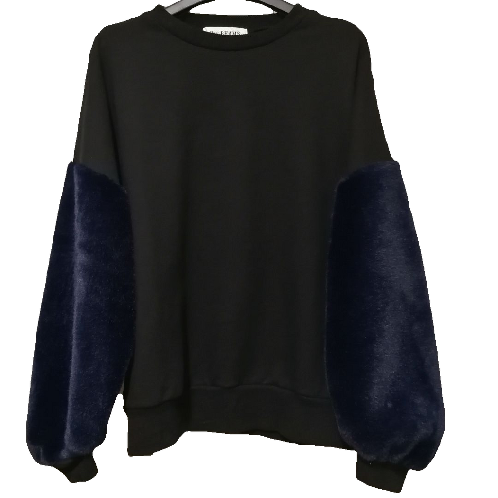 Ray Beams furffy sleeves sweatshirt