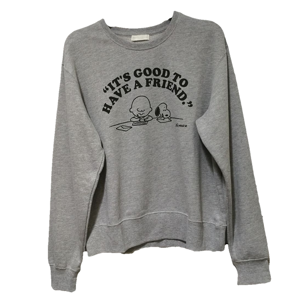 Earth Music & Ecology Snoopy Peanuts Cartoon Sweatshirt
