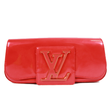 Louis Vuitton LV SoBe Vernis Patent Leather Clutch Bag