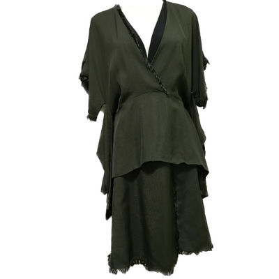 Sportmax V-neck dress with tassel