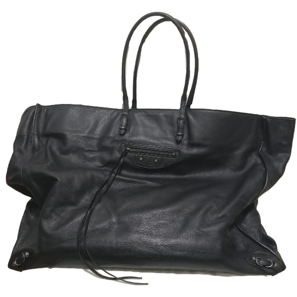 Balenciaga Papier Black Leather Tote