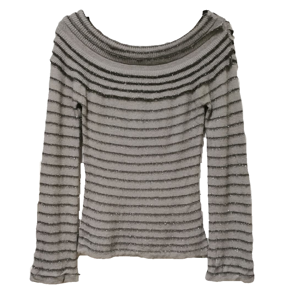 Emporio Armani scallop neck knit top