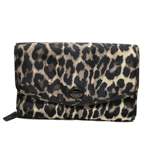 Coach leopard hanging travel bag