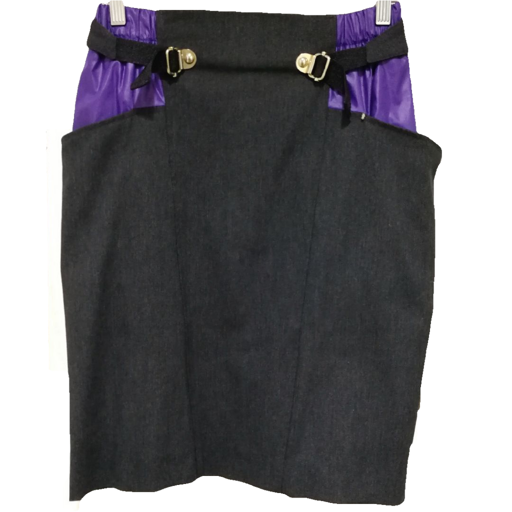 Sportmax denim pencil skirt with contrast pocket and zip detail