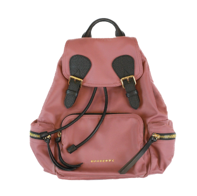 Burberry leather-trimmed medium rucksack nylon backpack