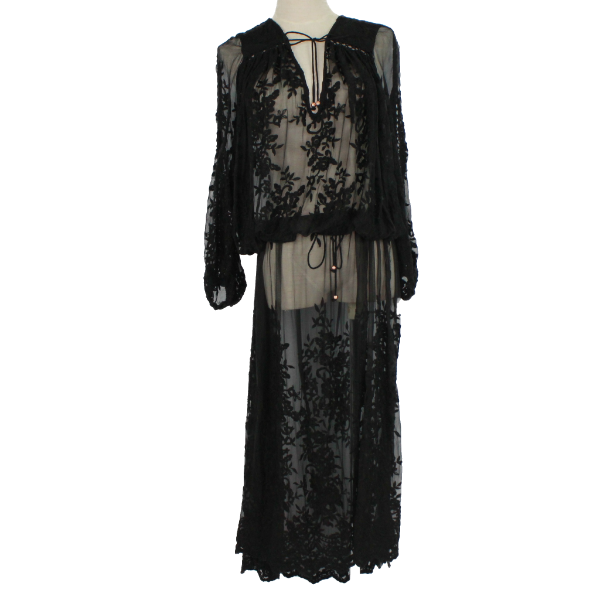 Zimmermann embroidery silk maxi dress