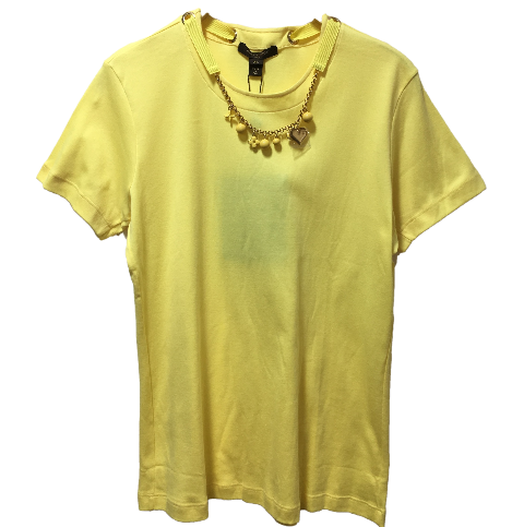 Louis Vuitton T-shirt with charm necklace
