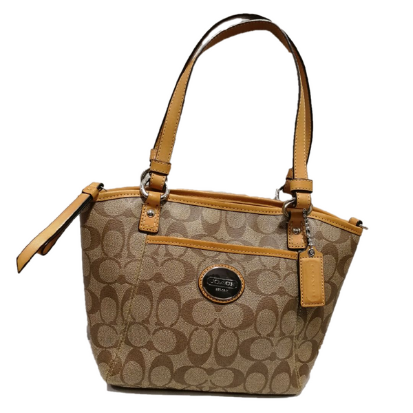 Coach two-way bag in signature pattern