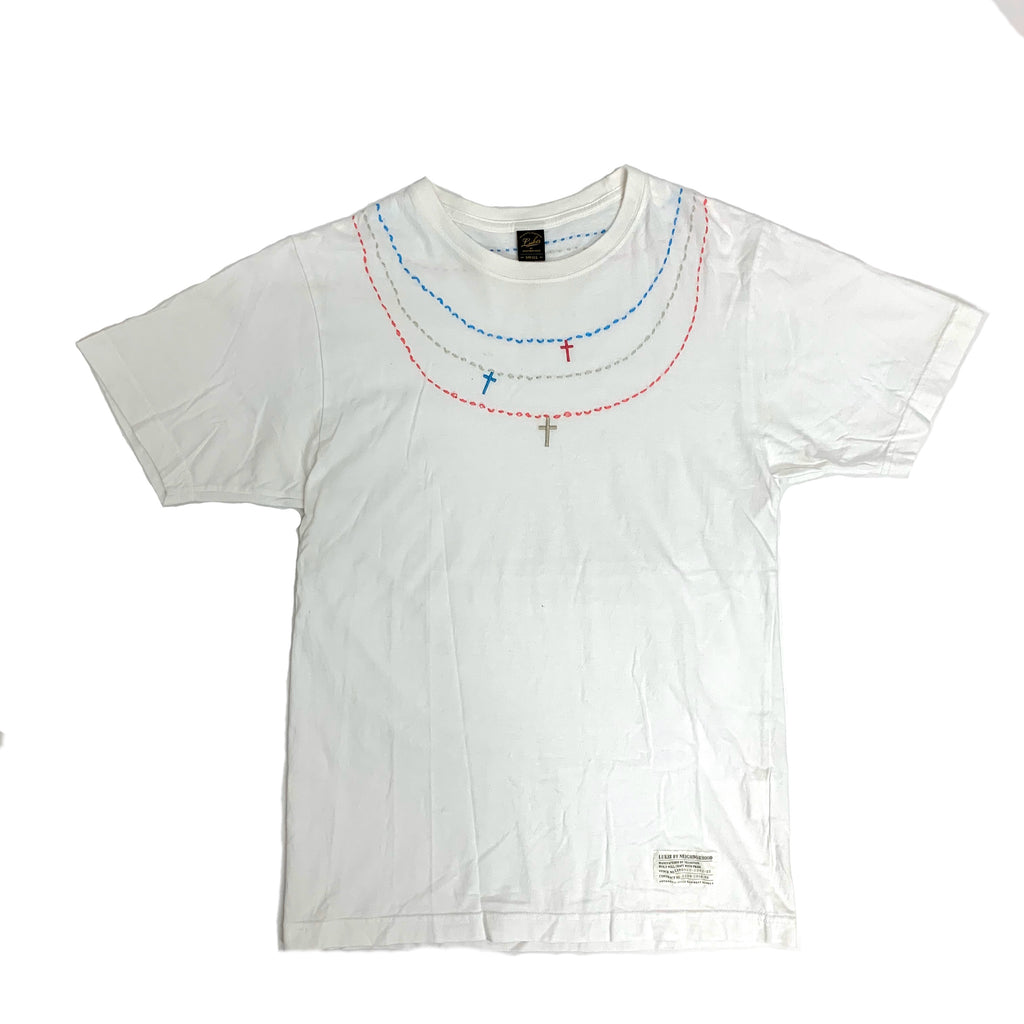 Neighborhood Luker Fake Necklace Tee (White Color)