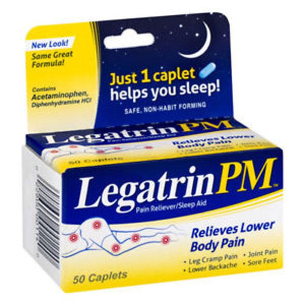 Legatrin PM Pain Reliever & Sleep Aid Caplets
